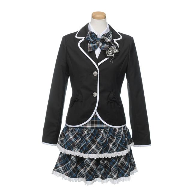 スカートセット(ブラック)フォーマル5点セット 子供フォーマル スクール 女の子 N-Girl